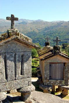 Soajo Granaries or Espigueiros Visit Portugal, Spain And Portugal, Wonderful Places, Beautiful Places, Sea Activities, Portugal Holidays, New Travel, Kirchen, Lisbon