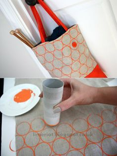 Make geometric pattern on handbag