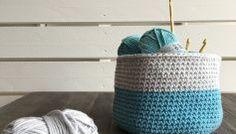 J'ai testé le coton Pingo Summer de Pingouin -Une corbeille au crochet(Tuto)