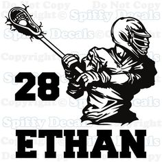 Personalized custom name boys girls Lacrosse by SpiffyDecals, $24.99