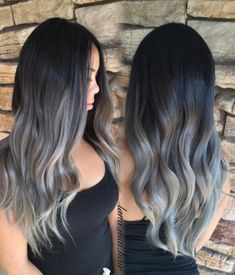 Honestly, it is beautiful as hell and perfect for people with naturally dark hair who want to experiment with coloring. | Grey Ombré Hair Is The Newest Color Trend And It's Freaking Beautiful