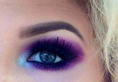 Purple and pink smokey eye
