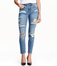 H M Slim High Ankle Trashed Jeans 399 - 705273d6b4d32