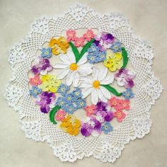 """Design By: Maggie Weldon Skill Level: Experienced Size: 12-1/2"""" (31 cm) Materials: Size 10 Crochet Cotton Thread: White (W) - 125 yds (112.5 meters) Blue (B) - 25 yds (22.5 meters) Pink (P) - 15 yds ("""