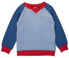 Blauwe sweater met rode kraag - Dis une couleur