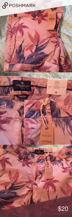 Floral American Eagle midi shorts Brand new. Never worn. Still have tags. Floral printed American Eagle midi shorts size 0 American Eagle Outfitters Shorts