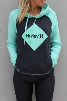 Hurley - Diamond Krush Pop Fleece Dark Heather Grey Mint The NEWEST season style for this Summer.  Loving this new Diamond print from Hurley. What girl doesn't love a diamond. $79.99 SHOP ll http://www.jeanjail.com.au/ladies/hurley-diamond-krush-pop-fleece-dark-heather-grey-mint.html