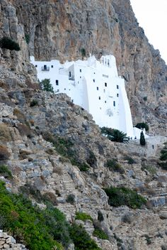 This is my Greece | The byzantine monastery of Panagia Hozoviotissa located on the southeast coast of Amorgos, 300m above sea level, Cyclades complex