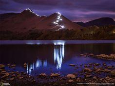 Festa di luce Keswick, Inghilterra, Regno Unito Fotografia di Tom McNally