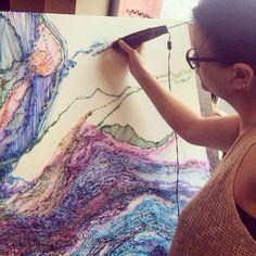 @artistRachelG 3doodling art 3d Drawing Pen, 3d Drawings, Print 3d, 3d Prints, Boli 3d, 3d Pen Stencils, 3 D, Stylo 3d, Art Fil