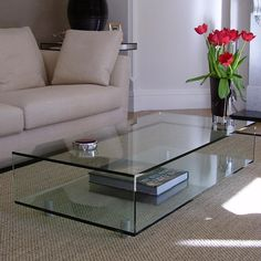 The UK's leading glass furniture supplier. Find out how our glass furniture will improve your interior. Configure your new glass furniture & order on-line. Coffee Tables Uk, Unique Coffee Table, Glass Top Coffee Table, Contemporary Coffee Table, Coffee Table Design, Contemporary Classic, Glass Tables, Glass Furniture, Luxury Furniture