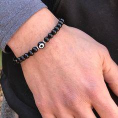 Evil Eye bracelet Onyx bracelet protection bracelet