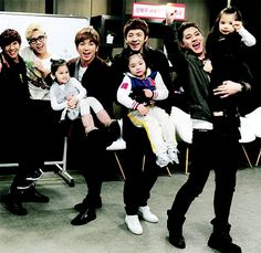 """MBLAQ on """"Hello Baby"""" Look at Mir and Lee Joon in the back :D"""