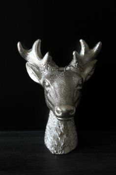 Silver Deer Head Candle
