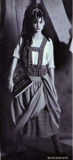 """Kate from Haysee Fantaysee, wearing what was termed """"recession wear"""" at the time, 1980s fashion"""