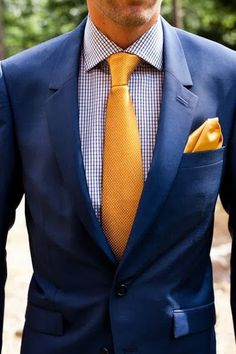 The Writer's Ink :: { How To Wear Navy & Gold } // Friday Fashionista #navy #gold #suit