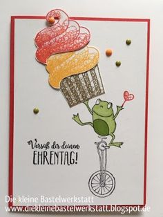 Stampin´Up Geburtstagskarte Sale A Bration 2019 Stempelset Froschkönig und Sü… Stampin'Up Birthday Card Sale A Bration 2019 Stamp Set Frog Prince and Sweet Greetings for you Happy Birthday Cards, Valentine Day Cards, Hand Stamped Cards, Stamping Up Cards, Animal Cards, Kids Cards, Baby Cards, Homemade Cards, Your Cards