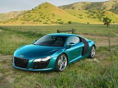 Audi R8 Turquoise w/Black Sideblade