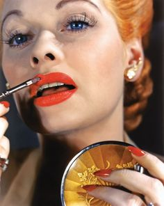 Stunning Rare Photographs of Frank Sinatra, Lucille Ball, and Marlene Dietrich from Hollywood's Kodachrome Era lucille ball, lipstick, lucill ball