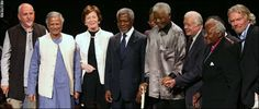 The Elders: dedicated to find new ways to foster peace and resolve global crises, to support next generation of leaders. There are seven Nobel Laureattes in the group