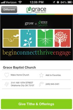 Grace Baptist Church in Oklahoma City, Oklahoma #GivelifyChurches | Sign up your ministry to receive mobile tithes and offerings with the Givelify donation app: http://givelify.com/churches