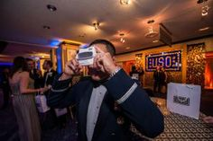 At the U.S.O. - vintage viewfinders - conveyed message. Nostalgic throwback aspect to event