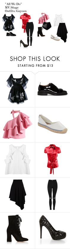 """""All We Do"" MV/Stage Outfits: Gayoon"" by zhangmaryliu2002 on Polyvore featuring Fendi, Thom Browne, Chicwish, French Connection, LE3NO, J.W. Anderson, Topshop, Gianvito Rossi and Shirò"