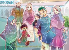 Muslim Happy Family by joejitakash.deviantart.com on @DeviantArt