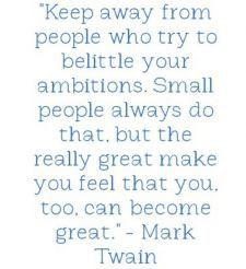 Mark Twain Quote - Small People