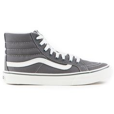 The Vans Classics SK8-HI Slim Women's Shoes in the Castlerock/Blanc de Blanc…