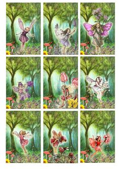 Greatfun4kids: Fairy Party (with Flower Fairy Printables) great for tags or placecards