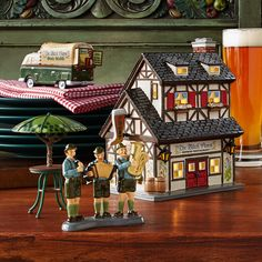 """The latest addition to the Snow Village """"Chow Town"""" series - The Black Forest Restaurant. Stop in for Oktoberfest or any other time of the year for authentic German fare. Shop 24/7 http://shop.department56.com/c/villages_original-snow-village_chow-town"""