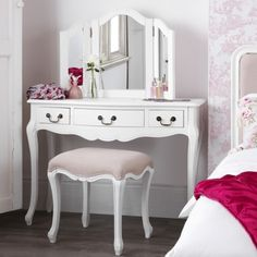 White Bedroom on Shabby Chic White Bedroom Furniture Chests Bedside Tables Dressing Shabby Chic Bedroom Furniture, Painted Bedroom Furniture, Shabby Chic Curtains, Shabby Chic Bedrooms, Shabby Chic Homes, Vintage Furniture, Burlap Curtains, Romantic Bedrooms, Luxury Curtains