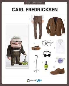 Senior Citizen and protagonist in the Disney movie Up, Carl Fredricksen is a lovable grouch and a worthy cosplay choice. His style is distinct and simple;