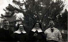 Fr. Coffey, Sr. Gabrielle, Sr, Norrie and Fr. Malone. 1960