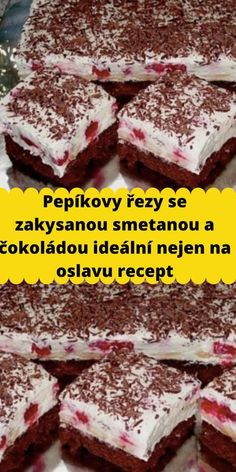 Czech Recipes, Tiramisu, Ham, Cheesecake, Deserts, Food And Drink, Yummy Food, Sweets, Meals