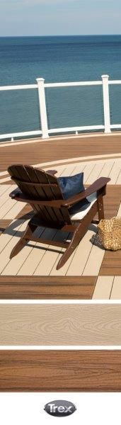 Mix and Match #Trex Decking colors Rope Swing and Spiced Rum for inlays that create interest. Order Trex board samples to see how these colors would work in your space at shop.trex.com