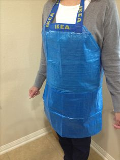DIY- Make your own IKEA painting apron from an IKEA bag