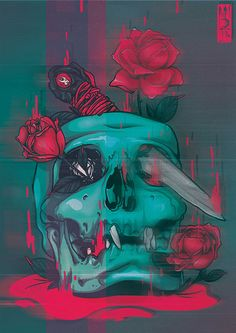 PERSONAL PIECE - DISTORTION SKULL SHOW on Behance