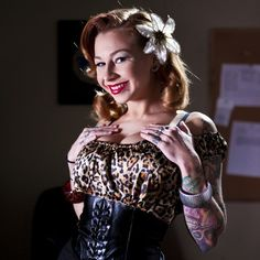 Super #sexy Scarlett Pain is full of #filmnoir #pinup deliciousness. #BurningAngel #tattoos #redlipstick