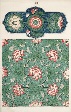 Illustrations taken from 'Examples of Chinese Ornament' by Owen. Chinese Design, Chinese Art, Chinese Style, Pattern Art, Pattern Design, China, Chinese Ornament, Chinese Prints, Owen Jones