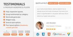 Testimoonials WordPress Plugin v2.2