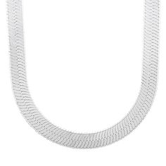 Men's 10.5mm Real 925 Sterling Silver Herringbone Chain Necklace, 61 cm…
