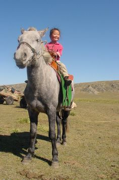 Mongol Child and Horse
