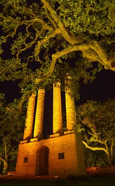 The original pillars of Baylor University at Independence, Texas. #SicEm
