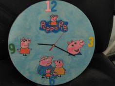 """orologio in legno """"peppa pig"""""""
