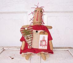 Primitive Folk Art Raggedy Angel Annie Ann by KareybethsKreations, $28.00