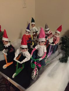 Scooters for elf on the shelf on Dec 23