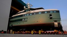 The first Damen Yachting SeaXplorer luxury expedition yacht emerged from the Damen Yachting building hall in Vlissingen, the Netherlands at the end of October