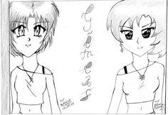 Desenho feito pela minha imã e eu.